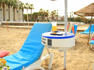BeachSafe, No key needed when enjoying the surf or a stroll on the beach.