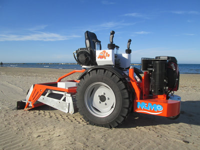 The new Nemo beach cleaner is a hydraulic drive, pilot controlled beach sand sifting machine.