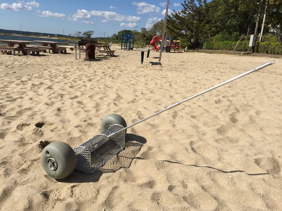 sand cleaning tool, beach cleaner, beach cleaning equipment, beach cleaning,